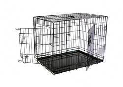 Papillon Wire cage black 2 doors 151287 Клетка металлическая с 2 дверками 87*58*67 см, черная