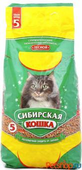 Сибирская кошка 20кг Лесной Древесный наполнитель