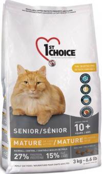 1st Choice 0,35 кг Mature or Less Active для стареющих кошек, цыпленок