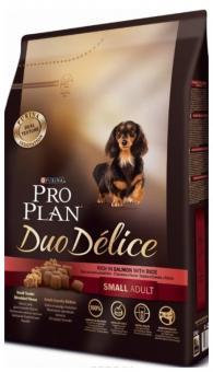Pro Plan 0,7кг Duo Delice для собак мелких пород  с лососем