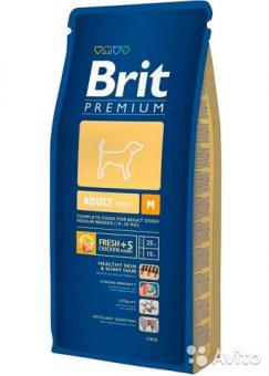 Brit 8кг Premium для взрослых собак средних пород
