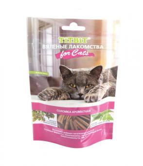 TiTBiT 40гр Вяленые лакомства Соломка ароматная для кошек