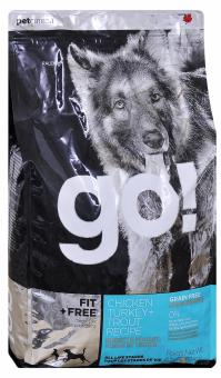 Go Natural 0,23 кг 34/16 adult Fit,  All life Stages беззерновой корм для собак всех возрастов 4 вида мяса