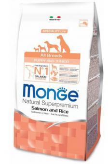 Monge Dog 12 кг Speciality Puppy&Junior корм для щенков всех пород лосось с рисом