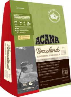 Acana 5,4кг Grasslands Cat & Kitten сухой корм для котят и кошек с ягненком, уткой, яйцом и рыбой