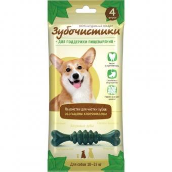 Зубочистики 4шт 70г Мятные для собак средних пород