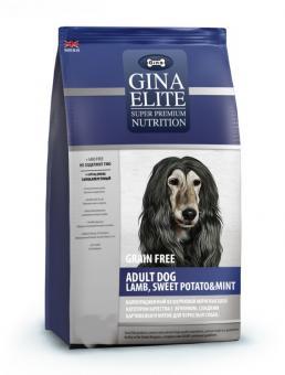 Gina 15кг Elite Grain Free Adult Dog Lamb, Sweet Potato & Mintс ягненком и бататом для аллергичных собак