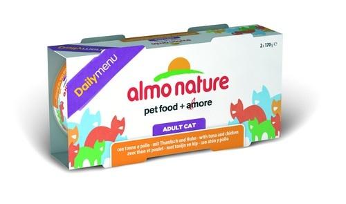 2шт,Almo Nature 2*170гр набор консервов для кошек Меню с тунцом и курицей, Daily Menu - Cat Tuna&Chicken