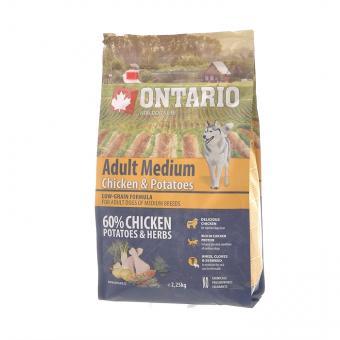 Ontario 2,25кг Medium Chicken Potatoes Для собак средних пород с курицей и картофелем