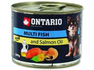 Ontario 0,2кг Консервы для собак малых пород рыбное ассорти