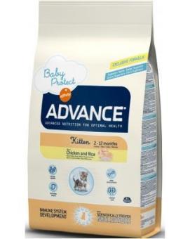 Advance 1,5кг  Baby Protect Kitten Сухой корм для котятс 2 до 12 месяцев с курицей и рисом