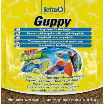 TetraGuppy 12г корм в хлопьях для гуппи