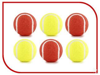 """Beeztees  игрушки для собак 6,5см """"Мячик теннисный"""", цвет красный/желтый"""