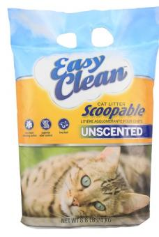 Easy Clean 9кг Unscented комкующийся Наполнитель без запахов