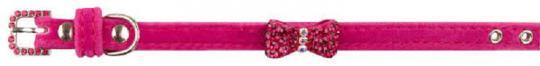 Dezzie 1х23 - 28см Ошейник для кошки розового цвета с бантиком