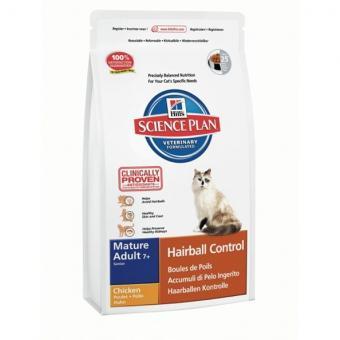 Hill's SP 1,5кг Hairball Control Adult Chicken корм для взрослых кошек, выведение шерсти, курица