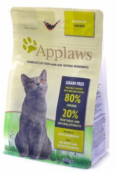 Applaws 0,4 кг Курица/Овощи: 80/20% сухой корм для пожилых кошек