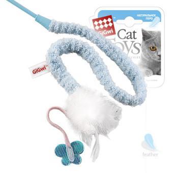 GiGwi (75112) 50185 73см  Игрушка для кошек Дразнилка на стеке с пером
