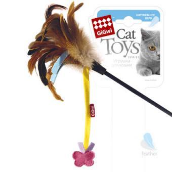 GiGwi (755246) 50331 Игрушка для кошек Дразнилка на стеке с бабочкой