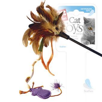 GiGwi (75243) 50328 Игрушка для кошек Дразнилка на стеке с мышкой