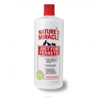 Nature's Miracle Уничтожитель пятен и запаха от хорьков.947 мл Just for Ferrets Stain & Odor Remover
