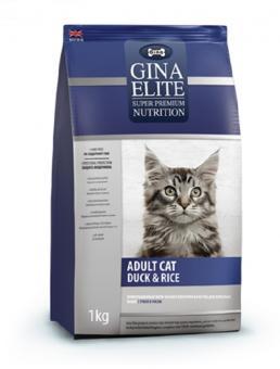 Gina 3 кг Elite Cat Duck&Rice UK Сухой корм суперпремиум класса для взрослых кошек с уткой и рисом