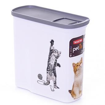 Curver Контейнер для корма Кошкина радость малый на 2 л (1 кг корма), 20x9x19 см