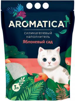 Aromaticat 3л Силикагелевый гигиенический наполнитель Яблоневый сад