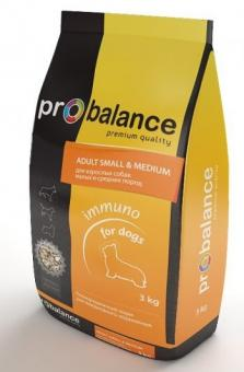Probalance 3кг small medium  корм сухой для взрослых собак мелких и средних пород