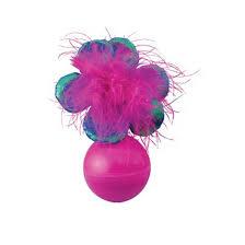 KONG игрушка для кошек неваляшка Bat-a-bout цветок 13 см