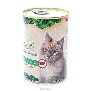 Organix 0,41кг Консервы для кошек с говядиной и перепелкой