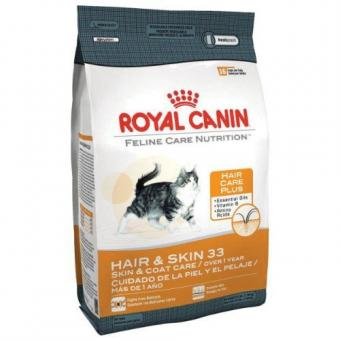 Royal canin 0,4кг Hair skin 33 Сухой корм для кошек от 1 до 10 лет с проблемной шерстью и чувствительной кожей
