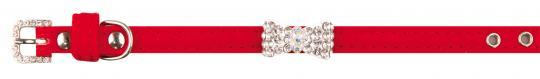 Dezzie 1,3х36см  Ошейник с бантиком для кошки, красного цвета