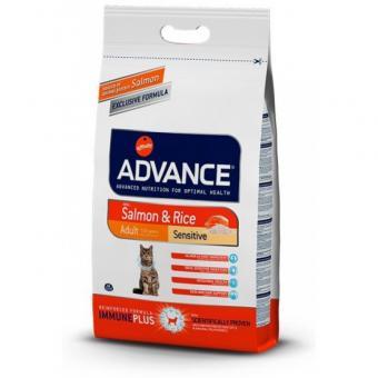Advance 3кг Adult Salmon Sensitive для кошек с чувствительным пищеварением лосось и рис