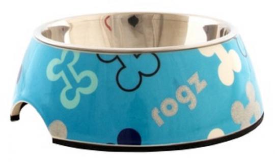 Rogz Миска для щенков 2в1 160мл BUBBLE BOWLZ, голубой
