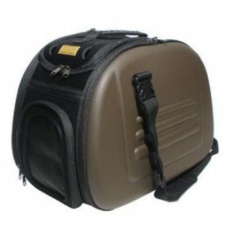 Ibiyaya складная сумка-переноска для собак и кошек до 6 кг бледно-розовая коричневая