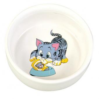 TRIXIE Керамическая миска для кошки 0.3л, 11см