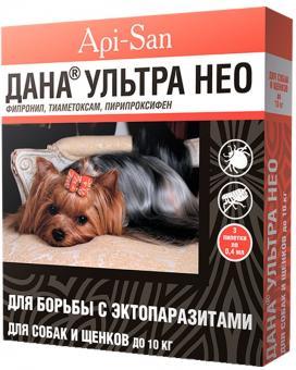ДАНА УЛЬТРА капли на холку (для собак и щенков 5-10кг) 1*0,8мл