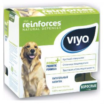Viyo коробка 30 мл х 7 шт Adult Dogпребиотический напиток для собак от 1 года до 7 лет