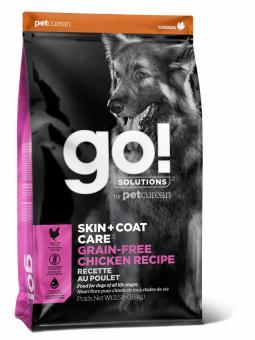 Go! Solutions Dog 11.3 кг Skin + Coat Care Grain Free Chicken беззерновой корм для собак и щенков Цыпленок