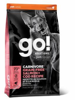Go! Solutions Dog 10 кг Carnivore Grain Free Salmon + Cod беззерновой корм для собак и щенков Лосось + Треска