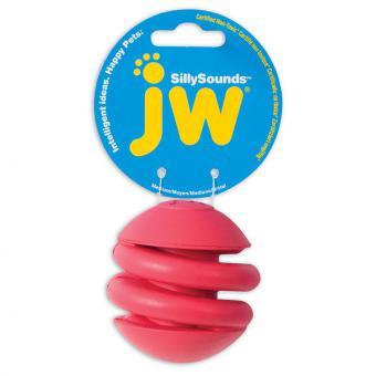 JW Silly Sounds Spring Ball Large Игрушка для собак - Спиральный мяч с пищалкой, каучук, большая