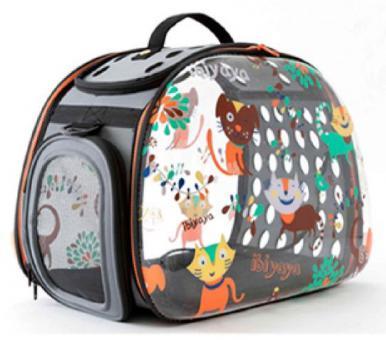 Ibiyaya складная сумка-переноска для собак и кошек до 6 кг прозрачная дизайн Cats Dogs