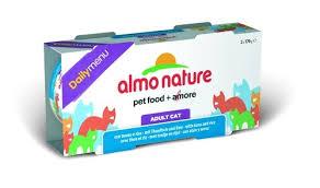 2шт,Almo Nature 2*170гр набор консервов для кошек  Меню с тунцом и рисом, Daily Menu - Cat Tuna&Rice