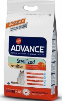 Advance 10кг Sterilized Sensitive Salmon для стерилизованных кошек с лососем