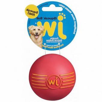 JW Silly Sounds Football Medium Игрушка для собак - Футбольный мяч с пищалкой, каучук, средняя