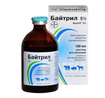 Bayer Байтрил 5% инъекционный раствор 100 мл.