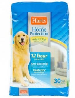 Hartz 58x76см 30штук adult dog Впитывающие Антибактериальные пелёнки