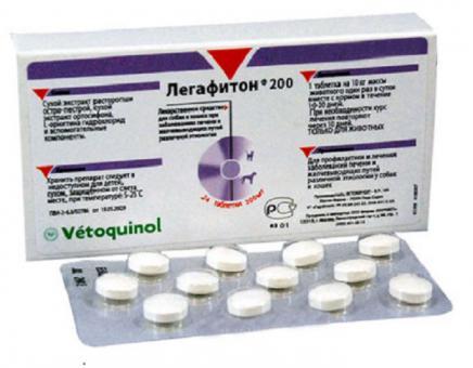 Легафитон 24 таб.(по 200 мг) при заболеваниях печени, желчного пузыря и желчевыводящих путей
