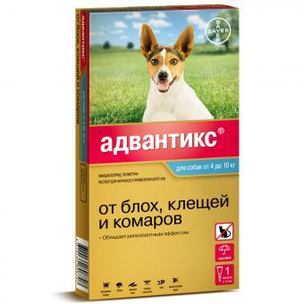 Bayer Advantix (Адвантикс) GOLD 100 С для собак от 4 до 10кг 1 пипетка